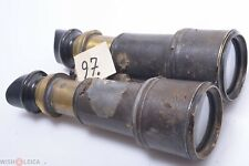 Army & Navy English Full Size Antique Brass Binoculars Galilean Double Telescope