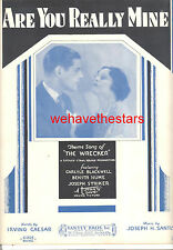 "THE WRECKER Sheet Music ""Are You Really Mine"" Benita Hume Carlyle Blackwell"