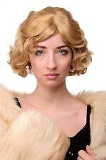 Perruque Femmes années 20 Swing Carré Ondulé blonde env. 25 cm a4002-611b