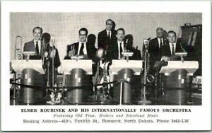Bismarck, North Dakota Postcard Elmer Roubinek & His Orchestra Blank Back c1950s