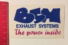 Aufkleber/Sticker: BSM - Exhaust Systems - The Power Inside (090616164)