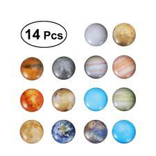 14Pcs Colorful Planet Fridge Magic Magnet Home Decoration Glass Cabochon Sticker