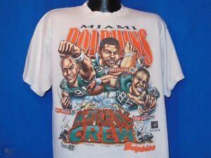 Vintage 90s MIAMI DOLPHINS Football caricature T-Shirt Unisex Reprint TK1549