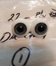 22mm Hand Glass Craft Doll Eyes DARK GRAY  Paperweight  ENGLAND  Hand Glass