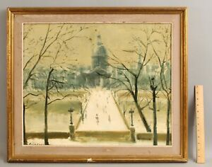 FRANCISCO SILLUE French Parisian Impressionist Skyline Cityscape Oil Painting NR