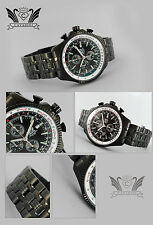 Black Hawk Noble Aviator Japanese Chronograph Timepiece! in Black neuefarbe