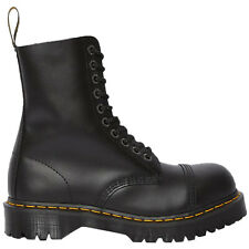Dr.Martens Unisex Boots 8761 BXB Casual Mid Calf Lace-Up Steel Toe Leather