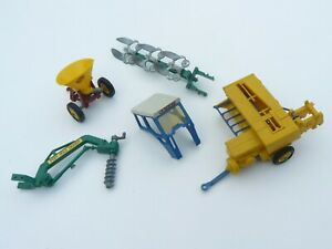 Britains Farm toys to include Cab for Ford Tractor & Post Hole Digger
