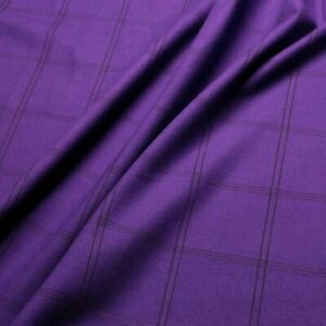 """Brushed Cotton fabric - Purple and black - 100% cotton - 60"""" wide"""