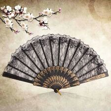 Chinese Vintage Fancy Dress Costume Party Bar Dancing Folding Lace Hand Fan ^/
