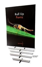 "24"" ROLL UP PENTA BANNER STAND BY SPENNARE RETRACTABLE ADJUSTABLE GRAPHIC SIGN"