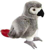 RAVENSDEN SOFT TOY AFRICAN GREY PARROT 28CM - FRS004AG BIRD RIO TROPICAL CUDDLY