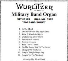 Wurlitzer Style 125 Band Organ Music Roll No. 3902-R Big Band Swing Roll