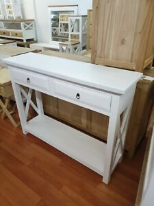 Lucia Hamptons French provincial  hall table console solid timber  cross sides