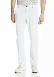 $80 Under Armour Match Play Golf Pants Men's Size 30x36 White 1248089-100 NWT