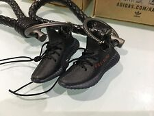 A Pair of 3D Keyring with BV leather keychain Yeezy Boost 350 V2 BRED