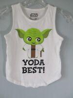 Star Wars Girl's Size S Small 6/6X Yoda Best! Cotton Sleeveless Tank Top Blouse