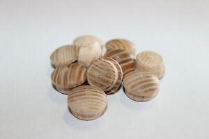 Holz Abdeckkappen Holzproppen Sipo-Mahagoni 15 mm Bohrloch 10 Stück
