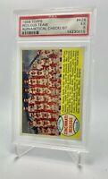 🔥 1958 Topps 428 Redlegs Team Checklist PSA 7 NM Alphabetical Variation Reds 🔥