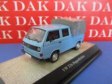 Die cast 1/43 Modellino Furgone Volkswagen T3a Doppia Cabina Pick-Up azzurro