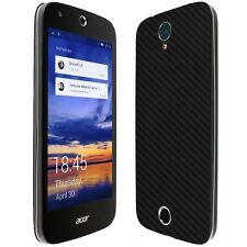 Skinomi Black Carbon Fiber Skin+Clear Screen Protector For Acer Liquid M330