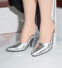 Doll Shoes, 42mm METALLIC SILVER Easy to Wear for Sybarite, MA Alex