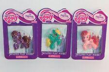 Lot 3 My Little Pony G4 3D Erasers Pinkie Pie, Fizzy Pop & Sassaflash NEW FiM
