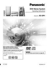 Panasonic SA-DP1 Stereo System Owners Instruction Manual