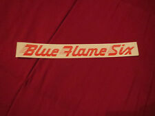 1949 – 1952 CHEVROLET BLUE FLAME SIX ENGINE VALVE COVER DECAL STICKER RED