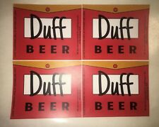 Lot 4 Duff Beer Inspired Stickers Simpsons Inspired 3.1� Tall Adhesive Pre-Cut
