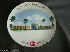 Vintage KRAFT FOODS BUENA PARK EMPLOYEE PLATE 1958 - 1983 FACTORY