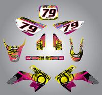 Full Custom Graphic Kit Honda CRF 50 - 2013 / 2015 NEON style stickers / decals