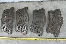 Old Oak Wood Stove #25 Ornate Metal Lower Surround Trim  Insert Pieces Lot of 4