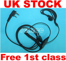 New Security Headset Earpiece Earphone Mic kenwood Walkie Talkie Radio 2 Pin New
