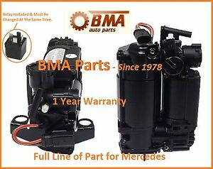 NEW OEM MERCEDES BENZ AIRMATIC SUSPENSION COMPRESSOR AIR PUMP with Relay