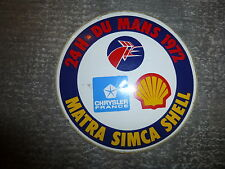24 heures du Mans 1972 Matre Simca Shell Chrysler auto collant
