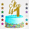 Personalised 1st Birthday Glitter Cake Topper Any Name Age  First 2 3 4 Custom