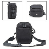 Nylon Tactical Molle Pouch EDC Utility Sports Waist Bag with Cell Phone Holder