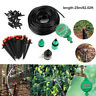 25M DIY Micro Drip Irrigation System Auto Plant Self Watering Garden Hose Kits
