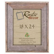 "18x24 - 4"" Wide Premium Reclaimed Rustic Barn Wood Wall Frame"