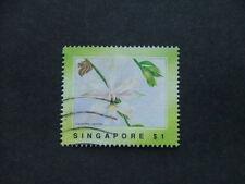 Singapore 1991 Orchid Dress Motifs $1 multicoloured SG662 FU