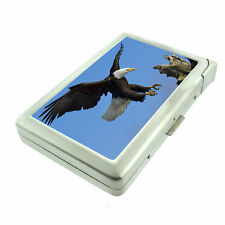 Alaska Images D2 Cigarette Case with Built in Lighter Metal Wallet Bald Eagle