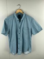 Yd. Men's Short Sleeve Shirt with Pocket - Size 2XL - Green Geometric