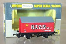 WRENN W5018 DARK RED WHITE WRITING BR STAR SALT CHESTER COVERED WAGON 105 nc