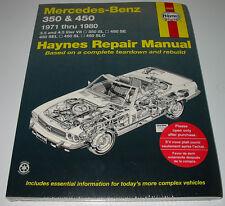 Repair Manual Mercedes R 107 V8 SL 350 SL 450 SE SEL SLC 1971 - 1980