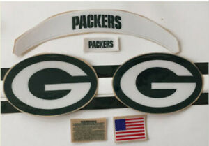 Green Bay Packers Full Size Helmet Decals with BUMPERS/ and Extras