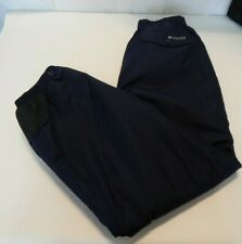 Columbia Womens Large Blue Snow Pants w/ Snaps L