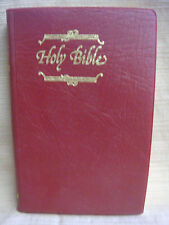Red Vinyl Cover Great Britain KJV HOLY BIBLE Collins