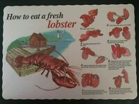 25 PACK OF HOW TO EAT A LOBSTER PAPER PLACEMATS FREE SHIPPING