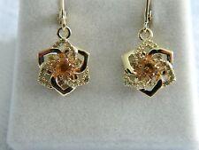 Clogau 9ct Welsh Gold Eternal Daffodil CitrineDrop Earrings RRP £590.00